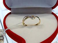 Кольцо золотое с цирконием, фото 1