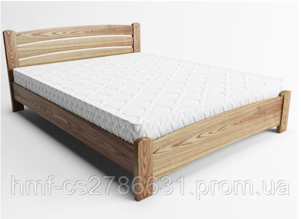 """Кровать """"Сидней"""" 90*200, орех, 2 ящика, с подемным механизмом, обычные ламели"""