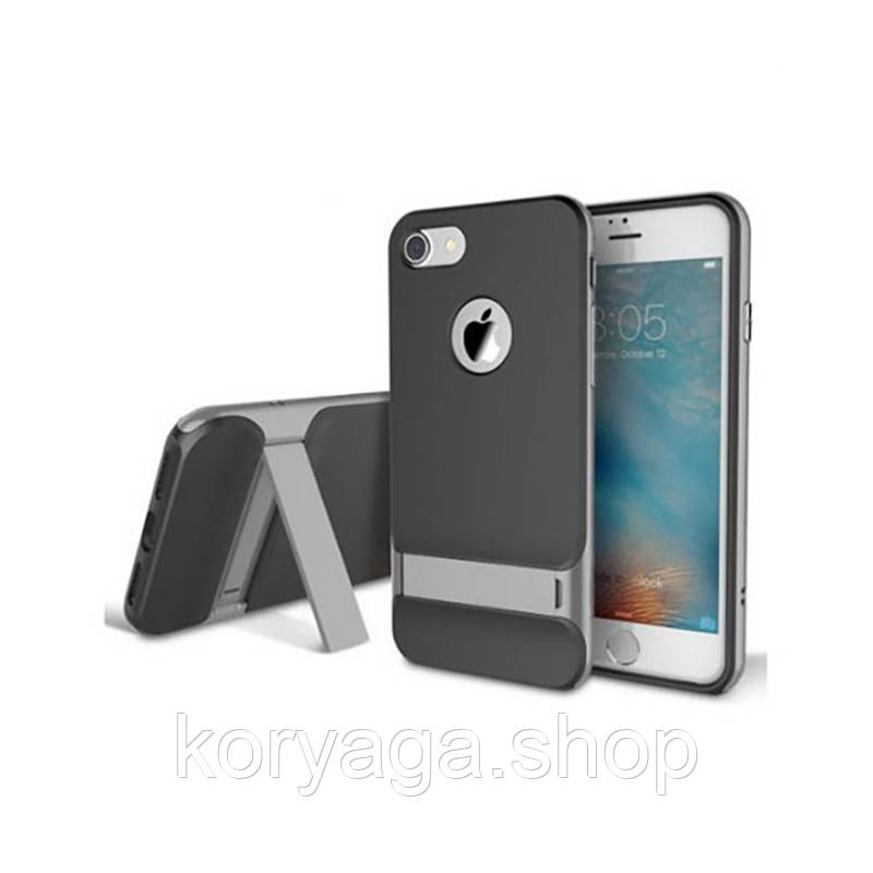TPU+PC чехол Rock Royce Series с функцией подставки для Apple iPhone 7 Plus/8 Plus Gray