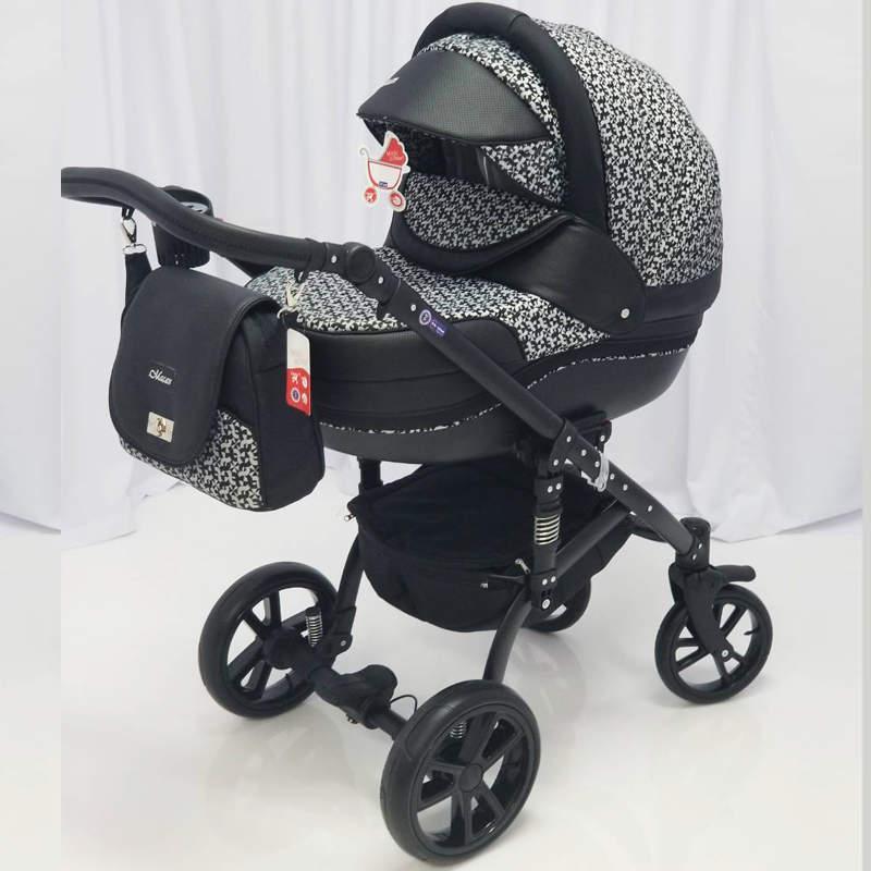 Детская универсальная коляска 2 в 1 MACAN Black pattern