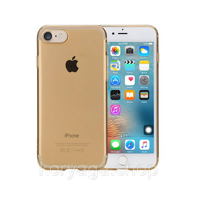 TPU чехол Rock Slim Jacket для Apple iPhone 7/8 Gold