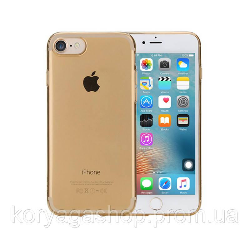 TPU чехол Rock Slim Jacket для Apple iPhone 7 plus / 8 plus Gold