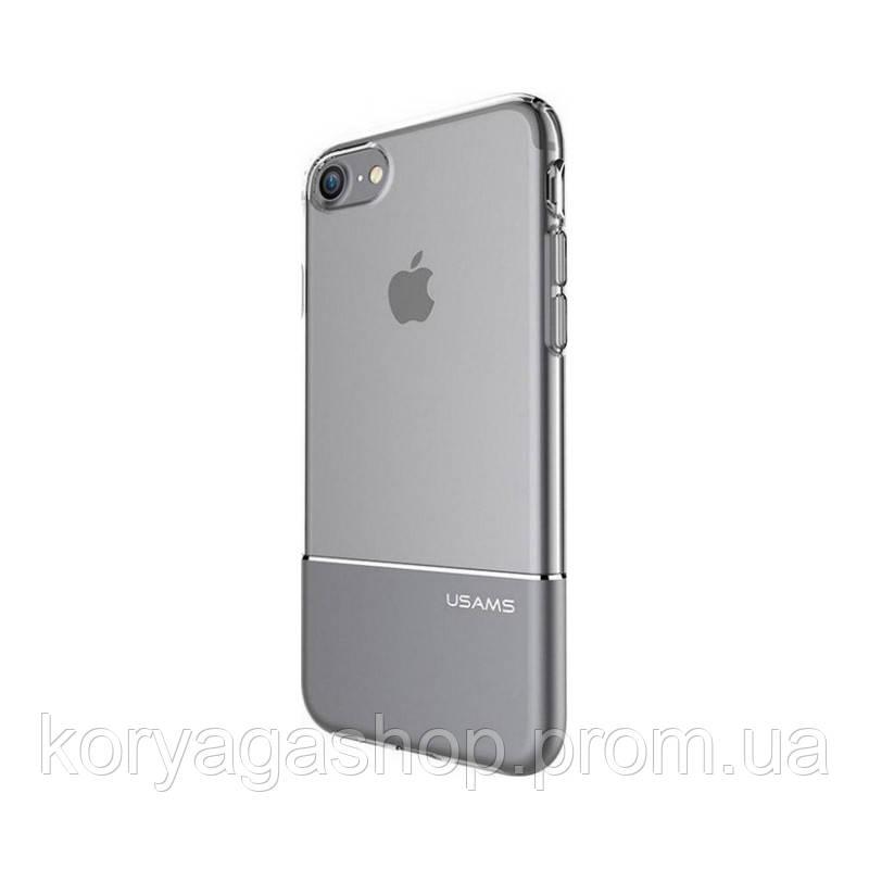 Чехол-накладка Usams Ease Apple iPhone 7 Plus Gray