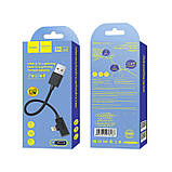 Переходник Hoco LS9 brilliant digital audio charging cable for lightning 15cm Black, фото 5