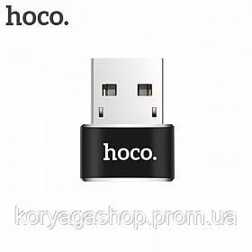Переходник Hoco UA6 Type-C to USB Black