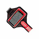 "Спортивный чехол на руку Baseus Move Armband 5"" Black and Red, фото 2"
