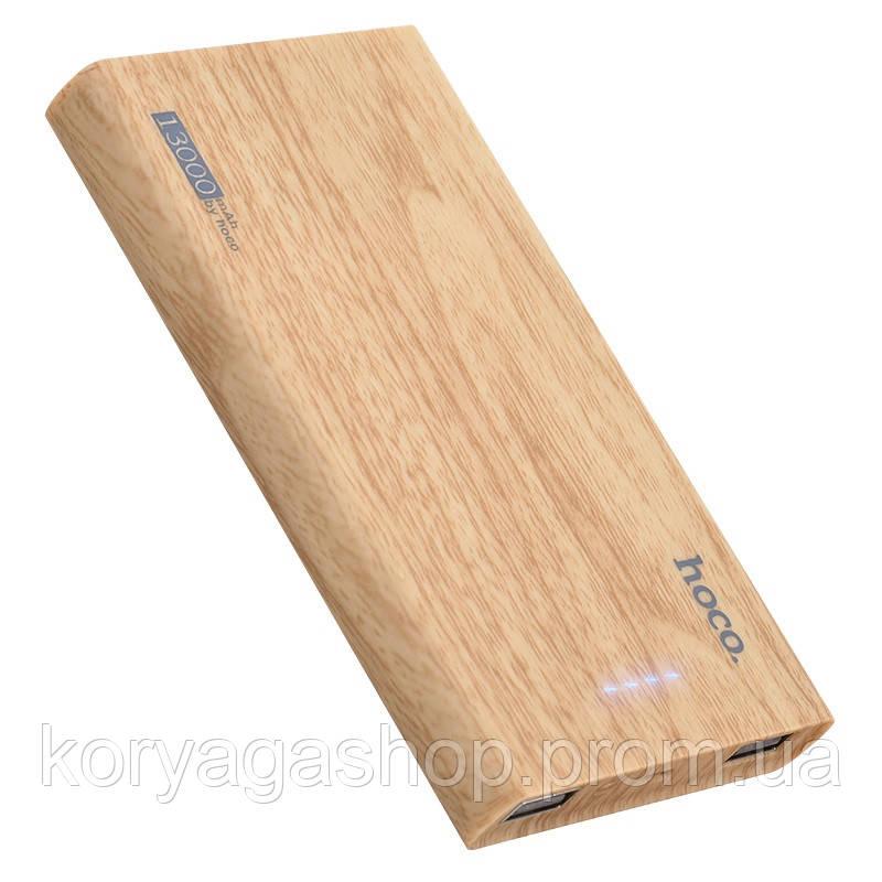 Power Bank Hoco B36 Wooden 13000mAh Oak Wood