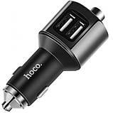 FM-трансмиттер + АЗУ  Hoco E19 Bluetooth Metal Gray, фото 4
