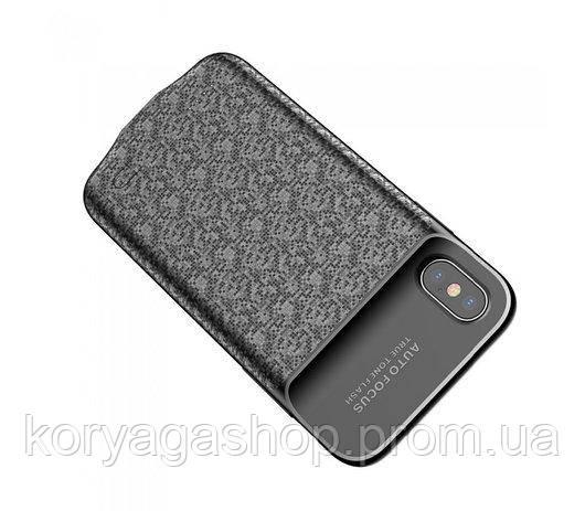 Чехол-PowerBank Baseus Plaid Backpack 3500mAh для iPhone X Black