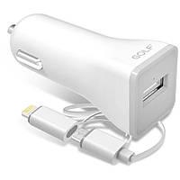 Автомобильное зарядное устройство Golf GF-C1 Car charger + Micro cable 1USB 1A White