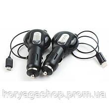 Автомобильное зарядное устройство Ozio CN23 + Micro USB Cable 0.8m (1USB 1A) Black
