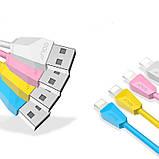 Кабель Golf GC-27I Diamond USB Lightning cable 2M White, фото 3