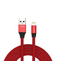 Дата кабель Golf (GC-55i) USB to lightning (100см) Красный, фото 1