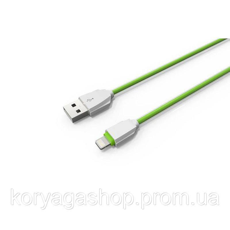Кабель Ldnio LS07 с Lightning 1M (2.1A) Green