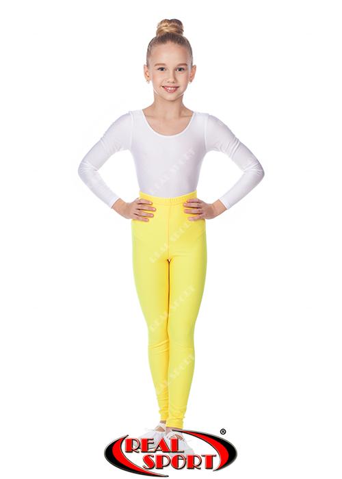 Леггинсы для художественной гимнастики, желтые GM040048 (эластан, р-р S-M, рост 152-165 см)