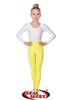 Леггинсы для художественной гимнастики, желтые GM040048(эластан, р-р S-M, рост 152-165см)