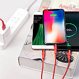 Кабель Hoco X26 Xpress Charging microUSB-USB 1m Red, фото 3