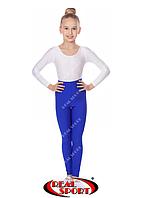 Лосины гимнастические, синие GM040049(эластан, р-р S-M, рост 152-165см)