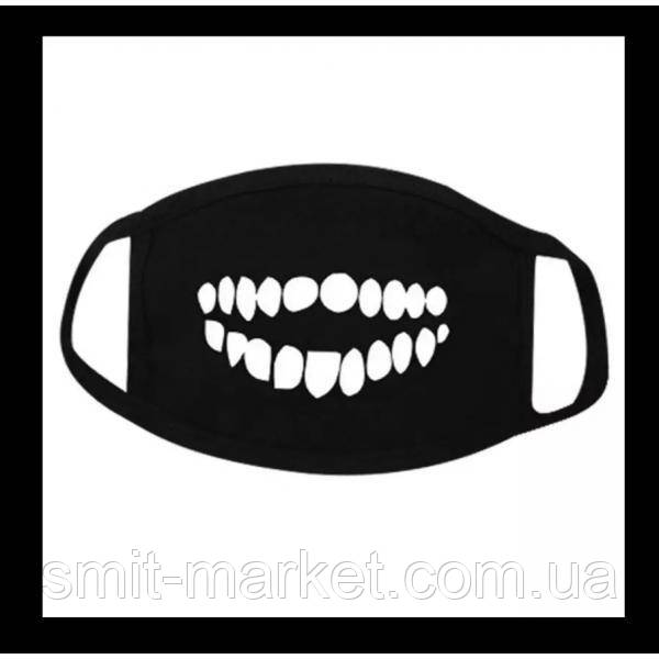 Маска на рот аниме Зубы №3
