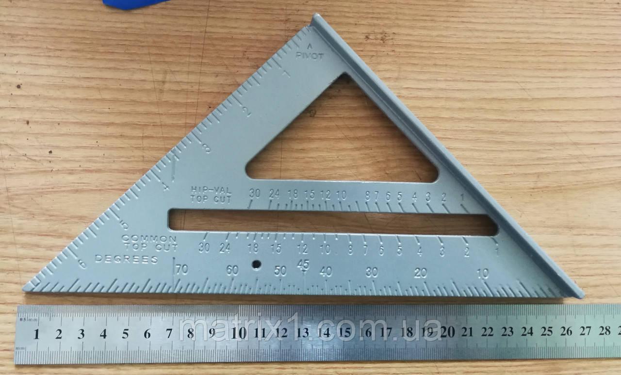 Угольник Свенсона алюминий, транспортир Swanson 250 мм