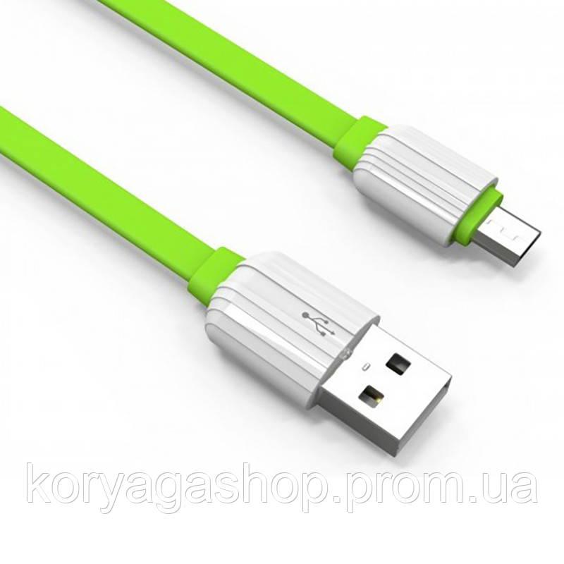 Кабель Ldnio LS05 MicroUSB 1M (2.1A) Green