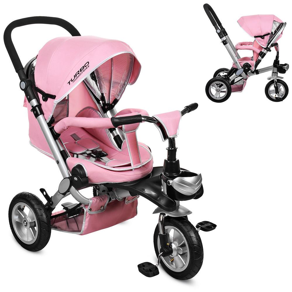 Велосипед-коляска детский трехколесный с поворотным сиденьем Turbo Trike M AL3645A-10