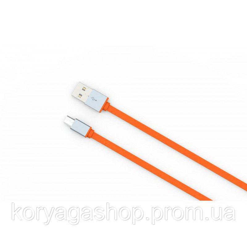 Кабель Ldnio LS09 MicroUSB 1M (2.1A) Orange