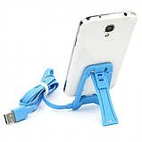 Кабель Lonsmax Micro USB Flat with Stand function 1M White, фото 2