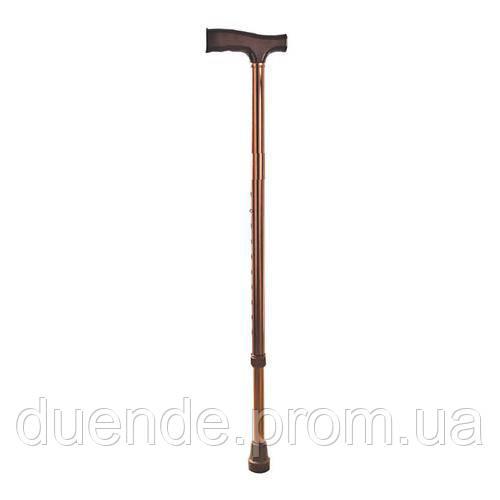 Тростина алюминеевая DY059201LB регульована по висоті, бронзова, дерев'яна ручка