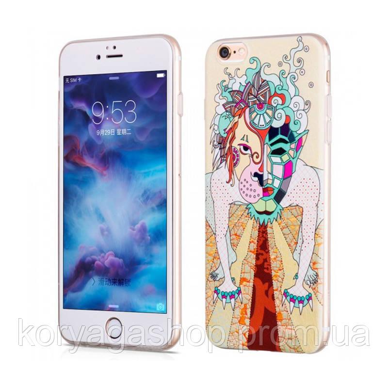 Чехол-накладка Hoco Element series mythology dogz для iPhone 6 Plus/6S Plus White