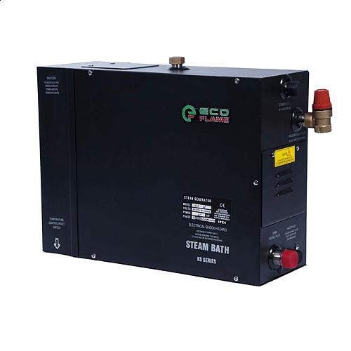Парогенератор EcoFlame KSB45C 4,5 кВт (для хамама 3.5-5.5 м.куб) с кнопкой, пульт, клапан, форсунка