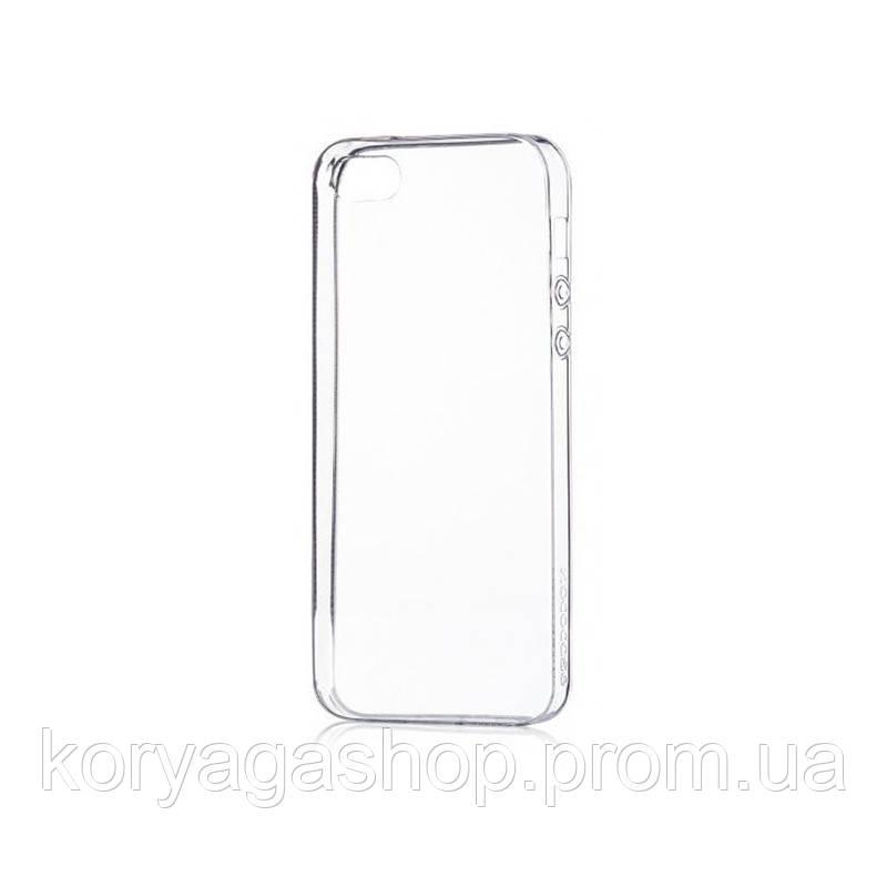 Чехол-накладка Hoco TPU case Light series with Finger Holder iPhone 5/5S Transparent