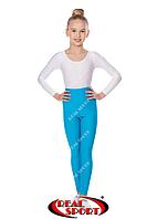 Лосины для художественной гимнастики, бирюзовые GM040052 (эластан, р-р S-M, рост 152-165 см)
