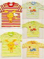 Детская футболка с длинным рукавом 68,74,80,86 см (3,4,5,6,7,8,9,10,11,12 месяцев), фото 1