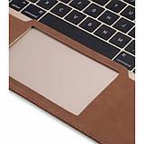 "Кожаный Чехол Melkco Easy-Fit Permium Nubuck для Apple MacBook Air 11.6"" Brown, фото 3"