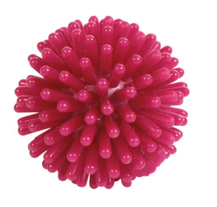 М'яч їжачок для кішок з латексу Trixie рожевий 3 см