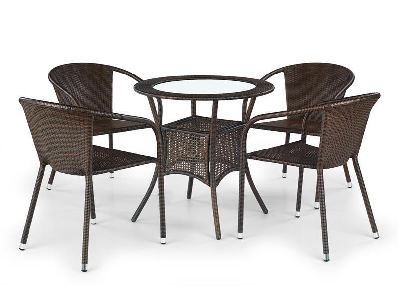 Стол MIDAS темно-коричневый (Halmar)