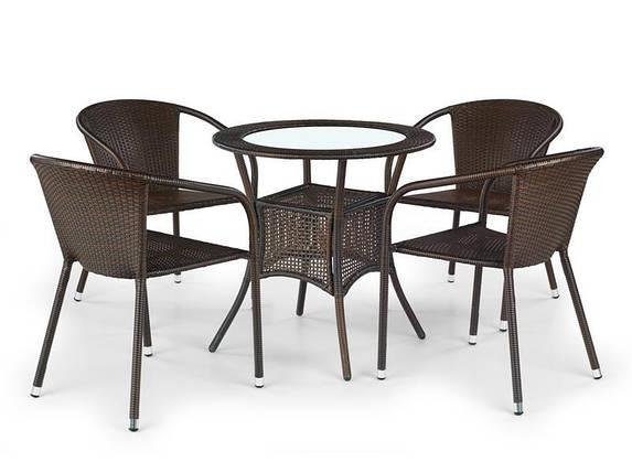 Стол MIDAS темно-коричневый (Halmar), фото 2