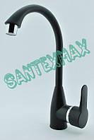 Смеситель на кухонную мойку из термопластичного пластика Brinex 35B 007 New черный