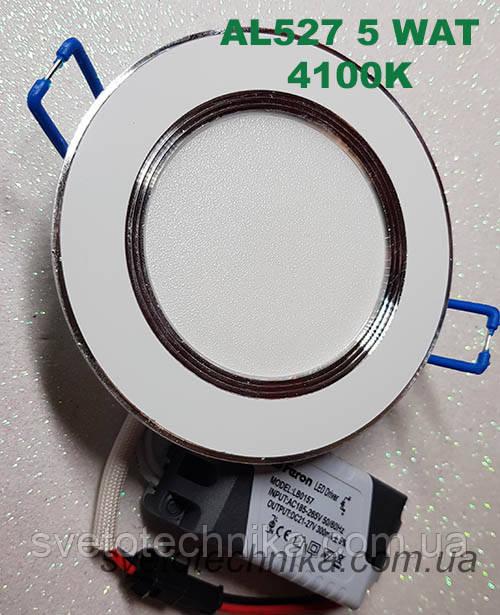 Светодиодная панель Feron AL527 5W 4000K