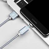 Магнитный кабель Hoco U40A magnetic adsorption charged Type-C 1m Metal Gray, фото 2