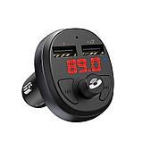 FM-модулятор Hoco E41 In-car audio wireless FM transmitter c функцией зарядного устройства Black, фото 2
