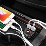 FM-модулятор Hoco E41 In-car audio wireless FM transmitter c функцией зарядного устройства Black, фото 3