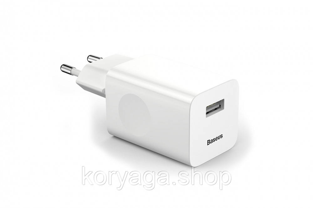 Сетевое зарядное устройство Baseus Charging Quick (1USB 2.4AQC3.0) White