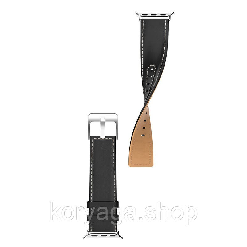 Kожаный ремешок Hoco WB04 Duke series для Apple Watch Series 1/2/3/4 (38/40mm) Black