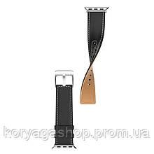 Шкіряний ремінець Hoco WB04 Duke series для Apple Watch Series 1/2/3/4 (38/40mm) Black