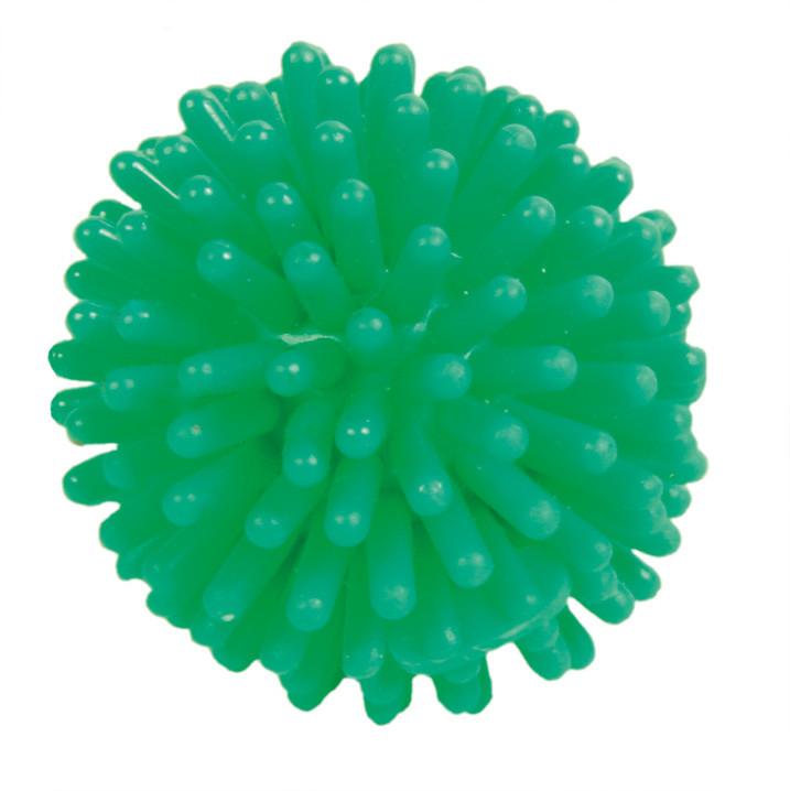 Мяч ёжик для кошек из латекса Trixie зеленый 3 см