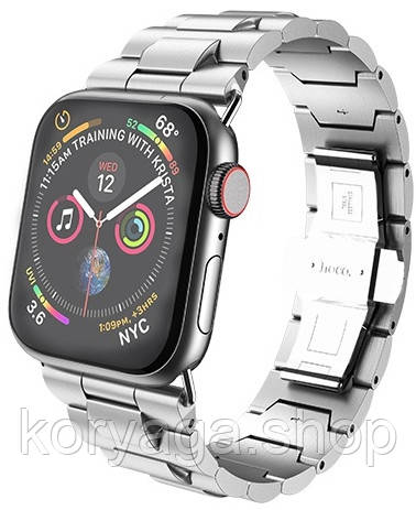 Ремешок Hoco WB03 Grand Steel для Apple Watch Series 1/2/3/4 (42/44mm) Silver