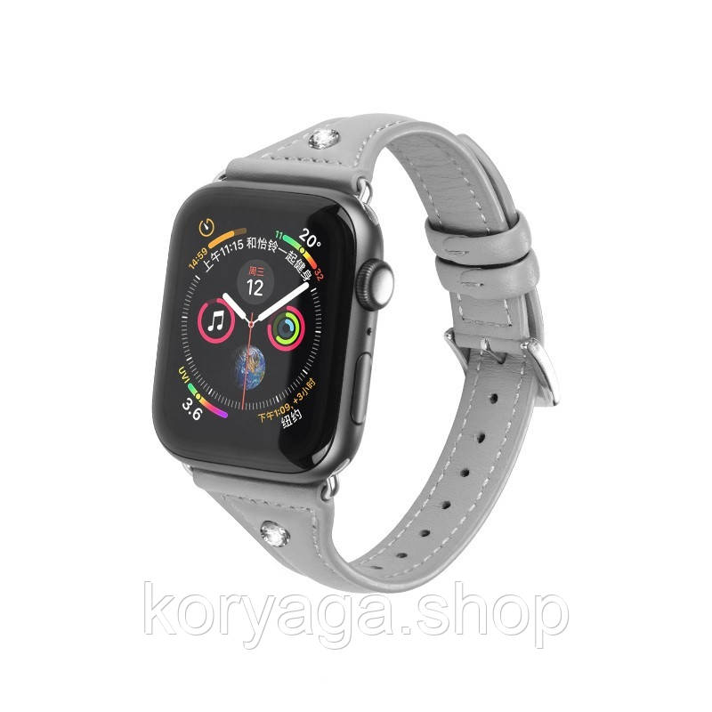 Kожаный ремешок Hoco WB05 Ocean wave для Apple Watch Series 1/2/3/4 (42/44mm) Gray