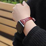 Kожаный ремешок Hoco WB05 Ocean wave для Apple Watch Series 1/2/3/4 (42/44mm) Red, фото 2